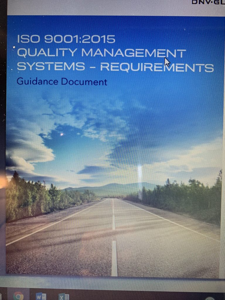 PROJECTS RF USA, Image 2. Support material, ISO9001:2015 Standard, Quality Management Systems Requeriments, Guidance Document (03/19/2019)