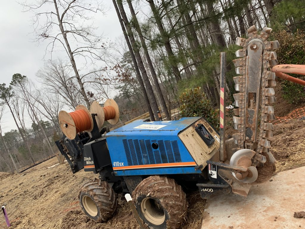 PROJECTS RF USA. Image 3.  Chain Trencher Machine, DITCH 410 SX (03/11/2019)