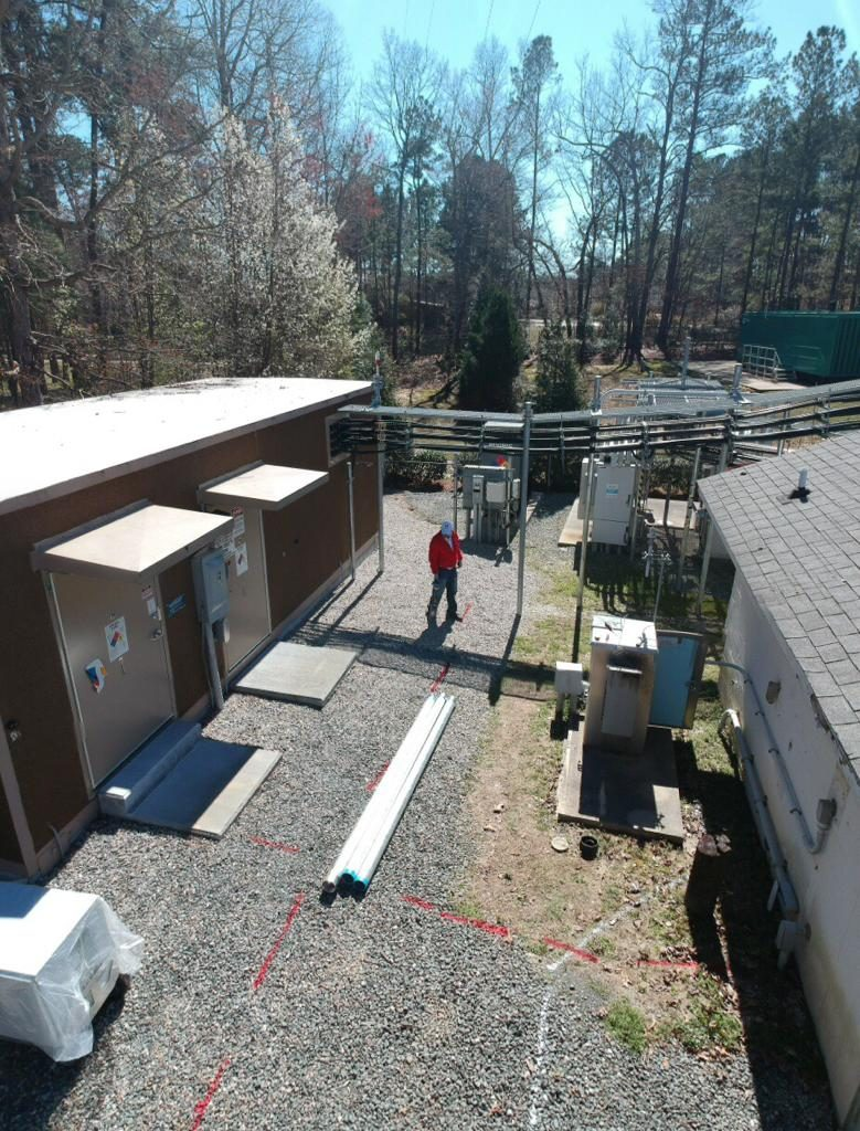PROJECTS RF USA. Image 1. View area from a drone of the mobile operator station (03/06/2019)