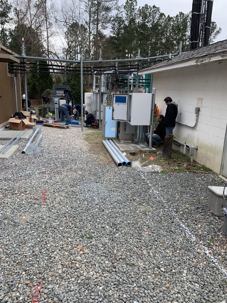 PROJECTS RF USA. Image 1. view of the corridor through which the fiber optic cable would be installed  (06/03/2019)