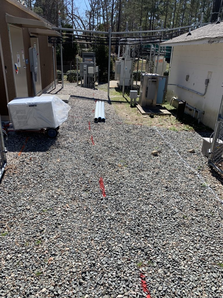 PROJECTS RF USA.  Image 5. Demarcated route for the installation of Optic Fiber (03/06/2019)