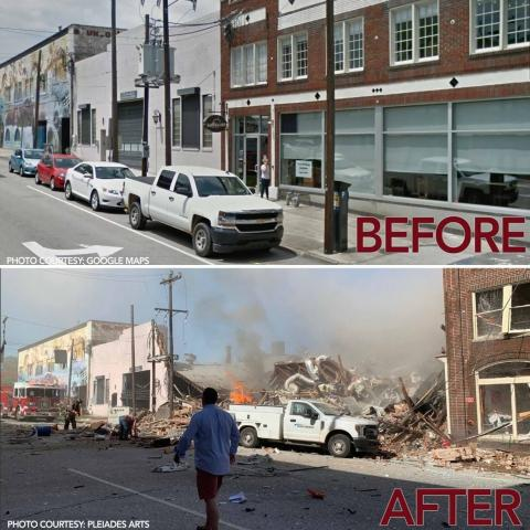 Image 3. Comparation Before-After explosión (Apr-2019). PROJECTS RF USA