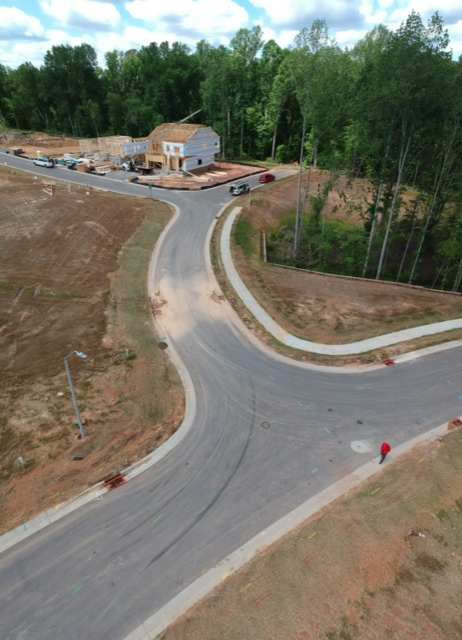 PROJECTSRFUSA. Image 1. Photo from drone of our Staff working in Holly Springs (May2019)