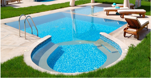 PROJECTSRFUSA. Image 3. Use of steps and handrails in the pool (Jun-2019)