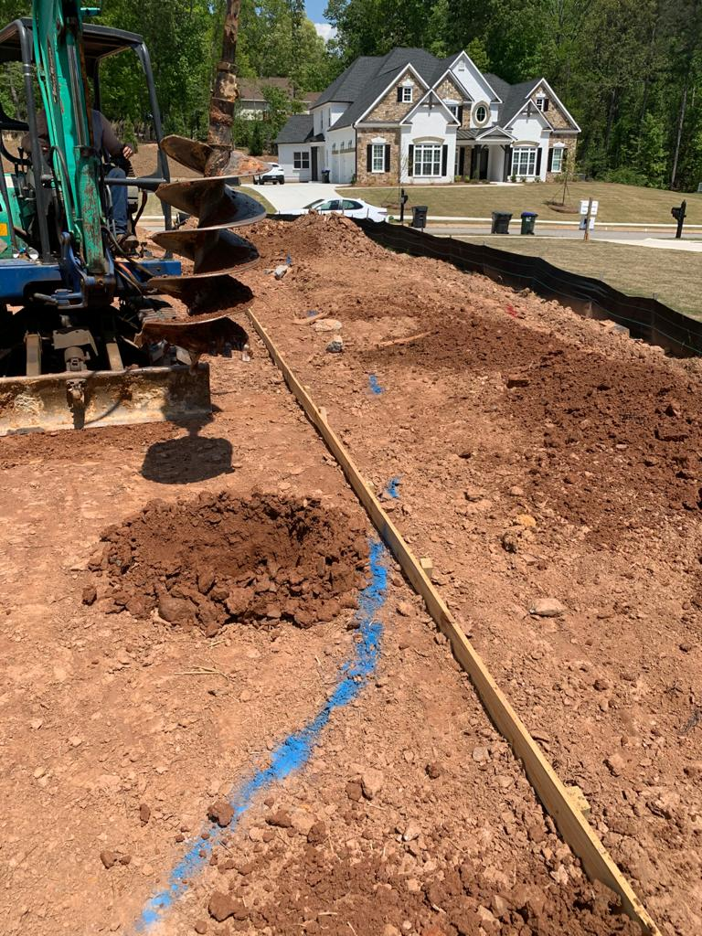 Image 5: Excavation of foundations Vs Precision in the demarcation (PROJECTRFUSA - Jun2021)
